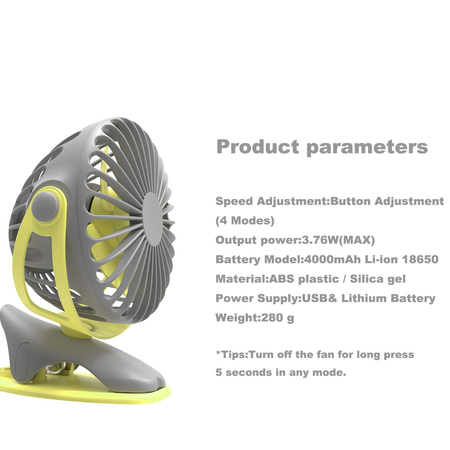 Amazon.com: upHere Desk Fan, Rechargeable Battery Operated Clip on Fan with 4 Mode,360 Degree Rotation Portable USB Fan, Strong Wind Personal Fan for ...