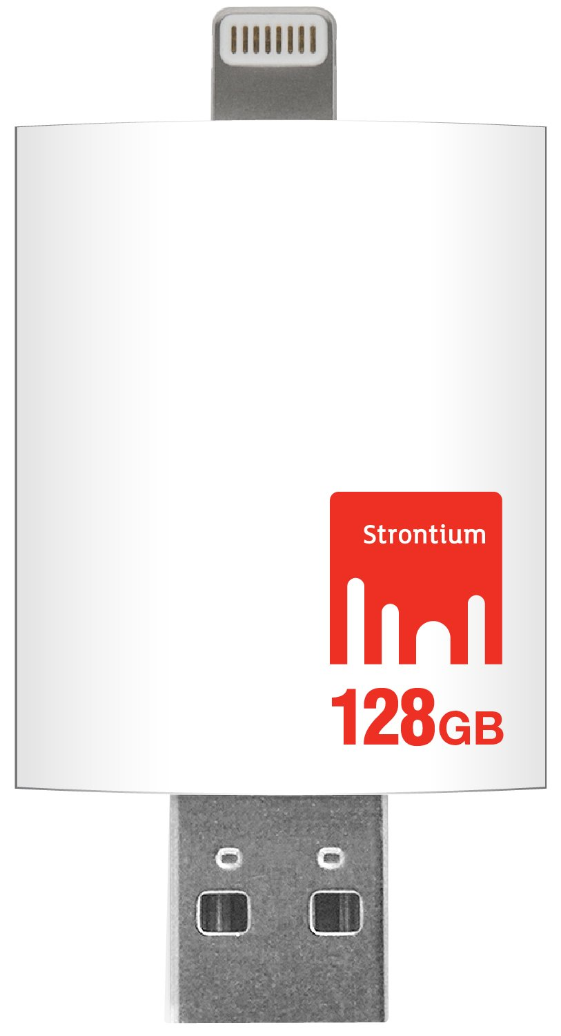 Strontium Nitro iDrive 128GB USB 3.0 with Lightning connector for iPads, iPhones and Computers - SR128GWHOTGAZ