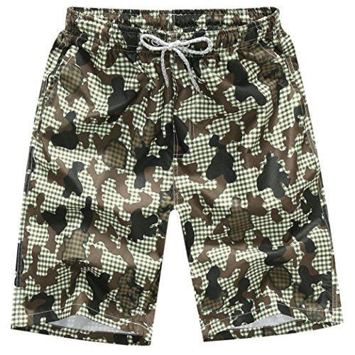 zycShang Pantalones cortos de baño para hombre Pantalones de agua para nadar de secado rápido en la playa Puro algodón  ocio… rCLK2aNZf