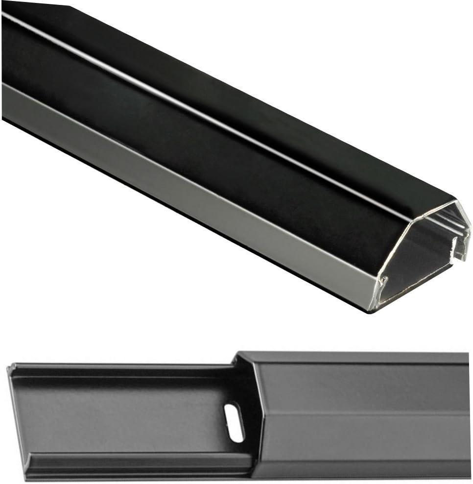 Bodenplatte und Deckel 5 cm breit Montagematerial; f/ür LCD,LED,Plasma TVs; Aluminium in perfekter Optik ; inkl Alu Kabelkanal schwarz; 110 cm 2,6 cm hoch; 2-teilig abgestimmt auf hochwertiges Equipment