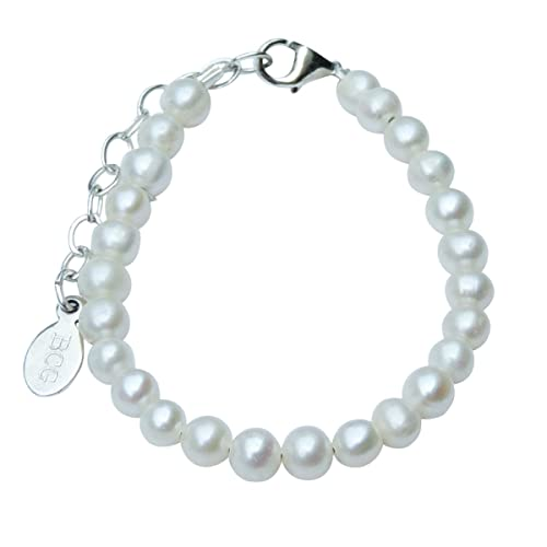 Amazon.com: Tiny Agua dulce Perla & pulsera de plata de ley ...