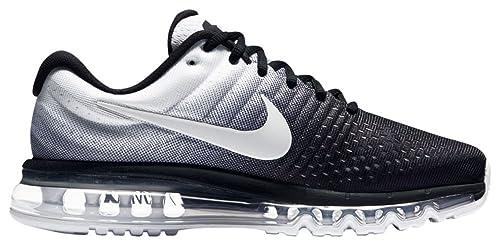9d513b70424 Nike Air Max 2017 Hombre Zapatillas Para Correr - Negro Blanco