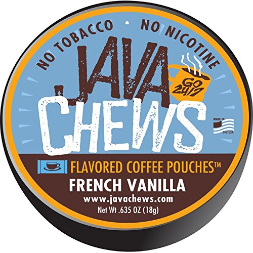 Java Chews, Premium Flavored Coffee Pouches, No Tobacco, No Nicotine Smokeless Alternative, French Vanilla (5 (Vanilla Dip)