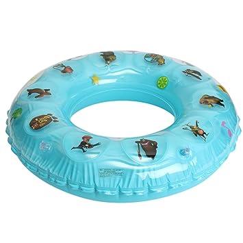 teamowsj Anillo Hinchable Natación Para Niños dibujos animados PVC Flotador salvavidas Natación vueltas Azul azul: Amazon.es: Deportes y aire libre