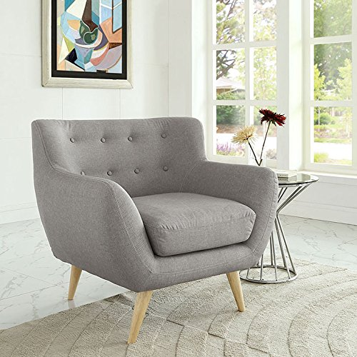 Modway Remark Armchair In Light Gray