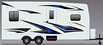 Camper Stripes Camper RV Trailer Vinyl Decal Stickers Graphics 17 in x 12 ft