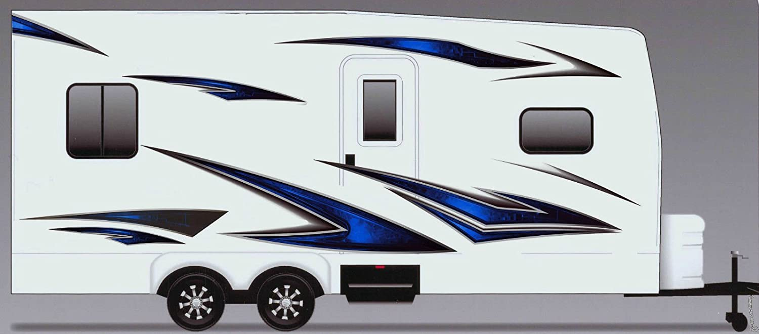 Amazon com rv trailer camper motorhome large vinyl decals graphics kit k 0004 automotive