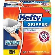 Hefty Gripper Tall Kitchen Trash Bags - 13 Gallon, 80 Count