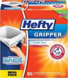 Hefty Gripper Kitchen Trash Bags 13 Gallon Garbage Bags - Clean Burst - Odor Control - 80 Count