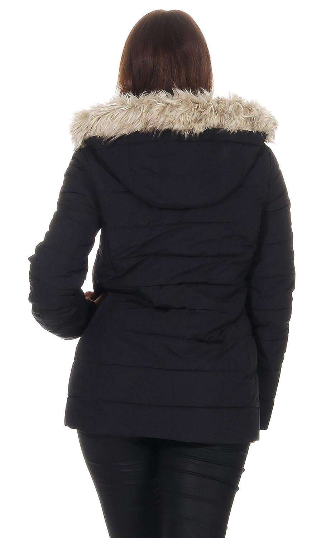 mazine Damen Winterjacke Hazelton Down Jacket Steppjacke mit Kapuze und Kragen