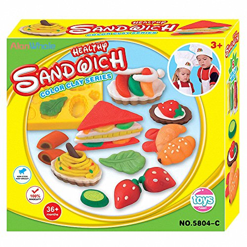 AlanWhale Healthy Fresh Sandwich Lunchtime Playset (Play Dough Lunchtime compare prices)