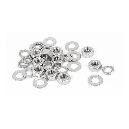 5Pcs Plain Ending Stainless Steel 304 Hex Socket Button Head Screws M8*20mm