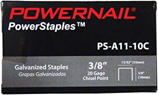 "product image for Powernail 20 Ga. Chisel Point Staples, 13/32"" Crown, 3/8"" leg, (5,000 ct box)"