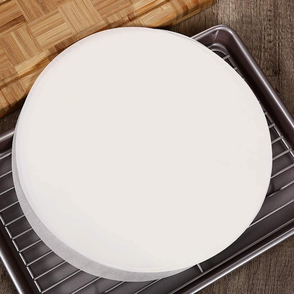 Baking Parchment Circles,Set of 200,8 Inch Diameter Non Stick Round Parchment Paper for Baking Cakes,Toaster Oven,Microwave,Air Fryer,Cheesecakes
