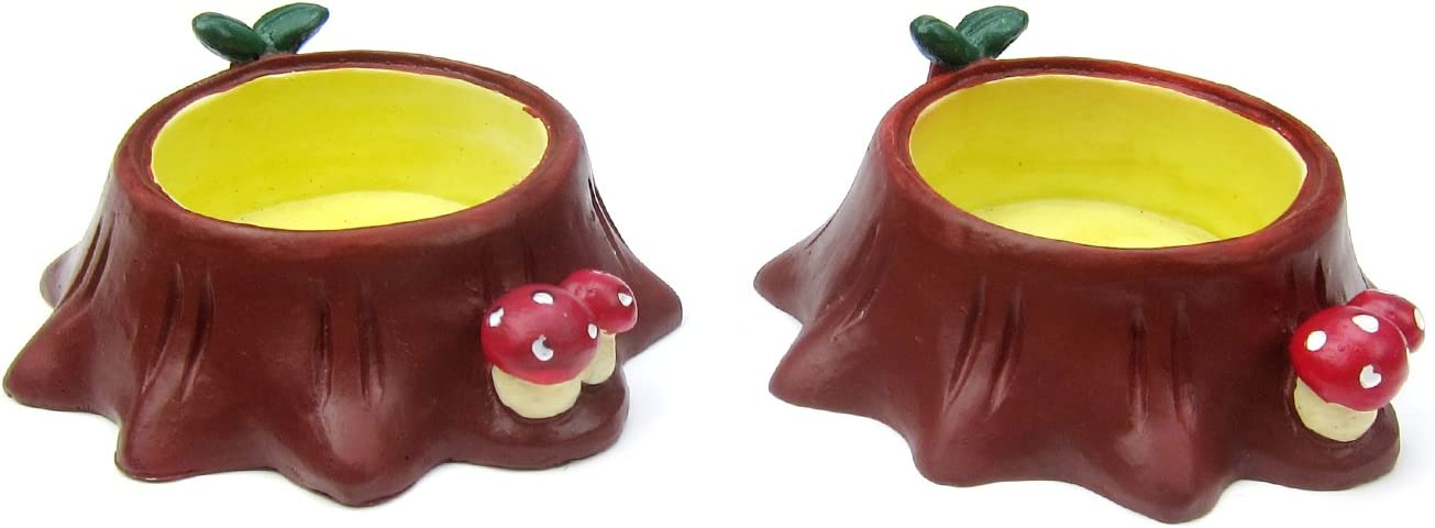 Alfie Pet - Pascoe Ceramic 2-Piece Set Food and Water Bowl for Mouse, Chinchilla, Rat, Gerbil and Dwarf Hamster