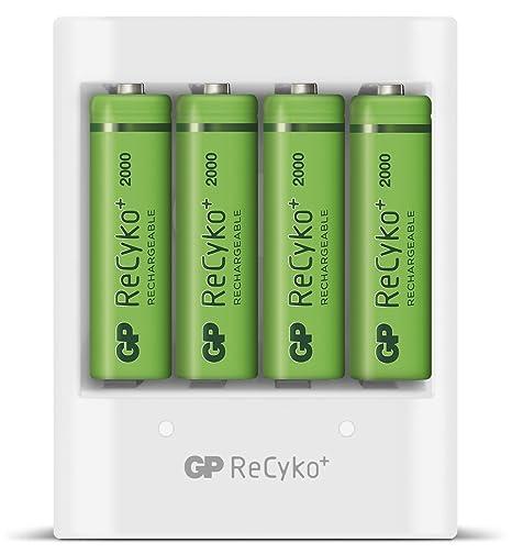 GP ReCyko Cargador de pilas recargables AA y AAA con entrada ...