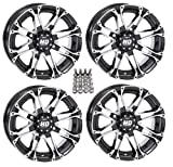 STI HD3 ATV Wheels/Rims Machined 12'' Honda Foreman Rancher SRA Solid Axle (4)