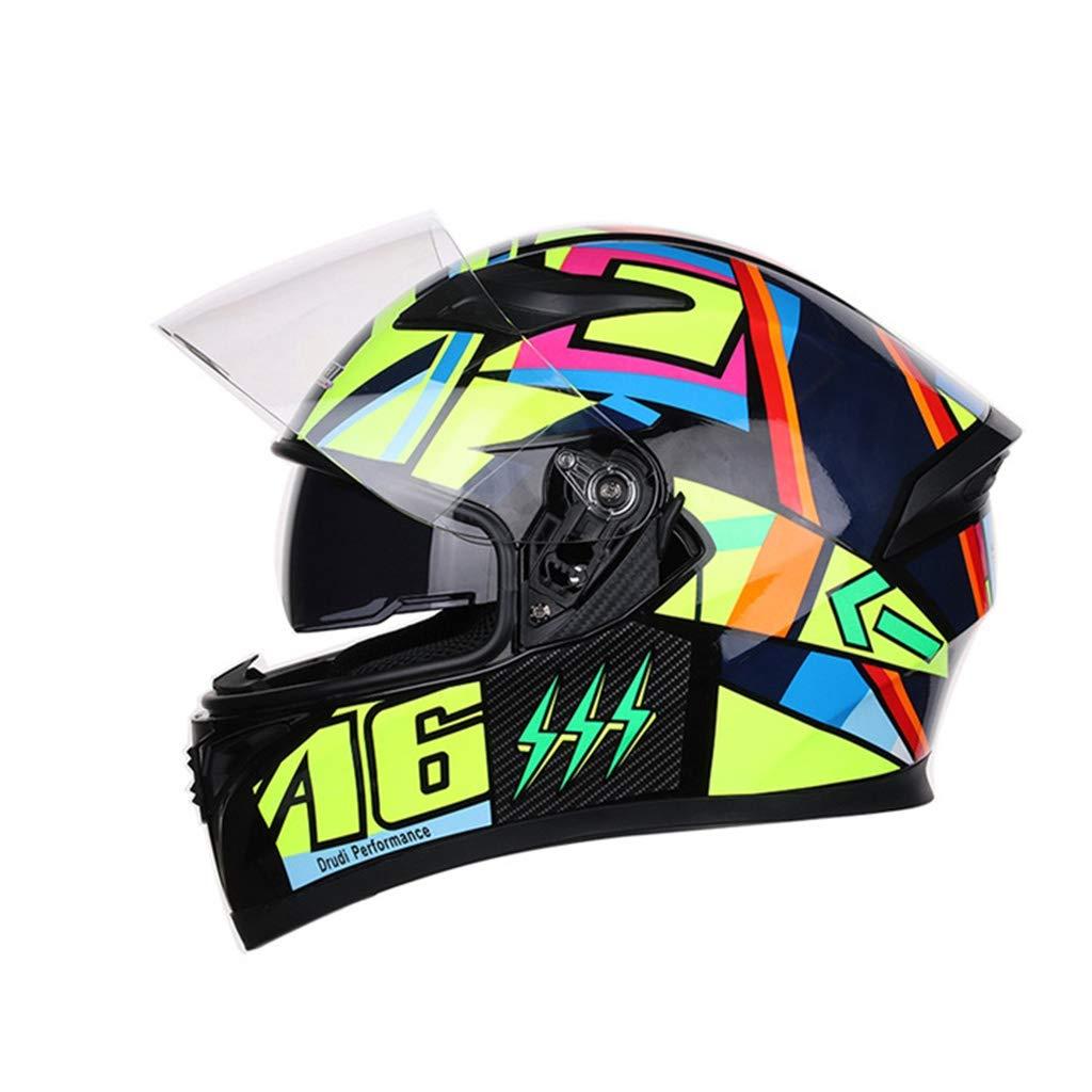 オートバイのヘルメット大人のHD防曇レンズユニセックス内側と外側のダブルレンズA6のスペースは、頭の周りに適して56から57センチメートル (色 : Anti-fog, サイズ さいず : M 56-57cm) M 56-57cm Anti-fog B07KVHSHCY