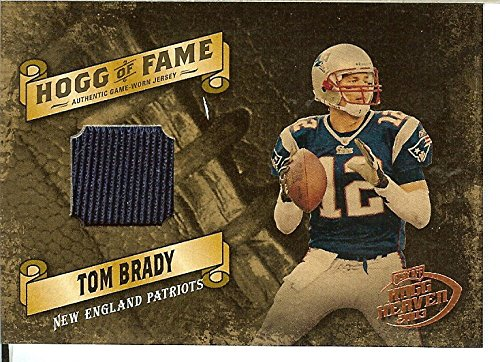 2003 Playoff HOGG OF FAME Tom Brady GAME USED JERSEY PATCH /125 ()