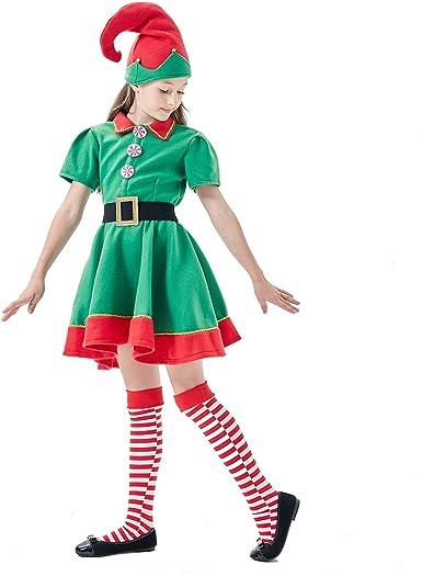 Amazon.com: XIMIN Disfraz de elfo para niña: Clothing