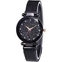 GoodTimes Analogue Multicolour Dial Blue Magnetic Quartz Girls and Women's Bracelet Wrist Watch with Stainless Steel Buckle Belt