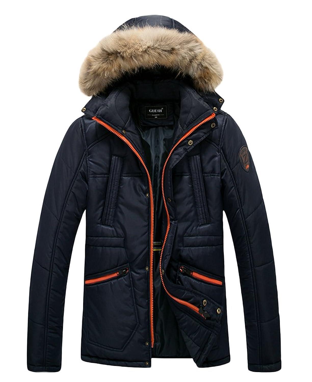 8751c4dc0055 outlet Icegrey Doudoune Homme Manches Longues Manteau à Capuche Amovible  Avec Bord En Fausse Fourrurre Amovible
