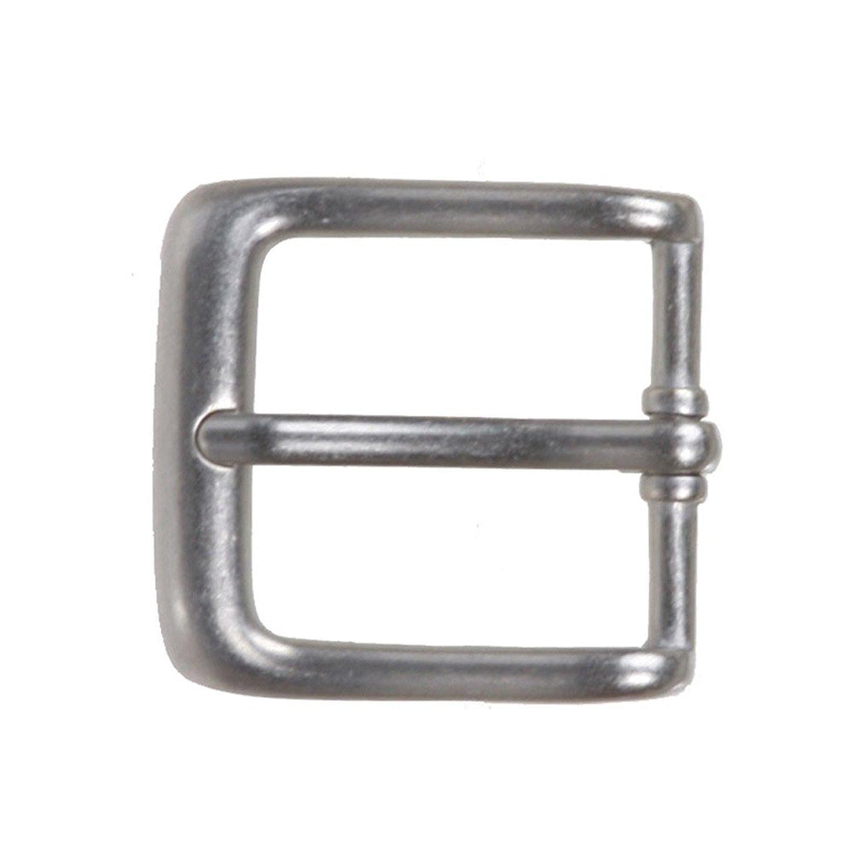 BBBelts Women Silver Plated Zinc Alloy 1 Prong Rectangular Buckle 1-1//8 Belts