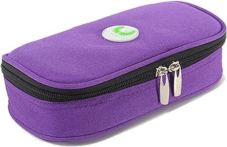 LOKEP - Estuche médico refrigerador portátil para insulina con 2 bloques de hielo, Púrpura: Amazon.es: Deportes y aire libre