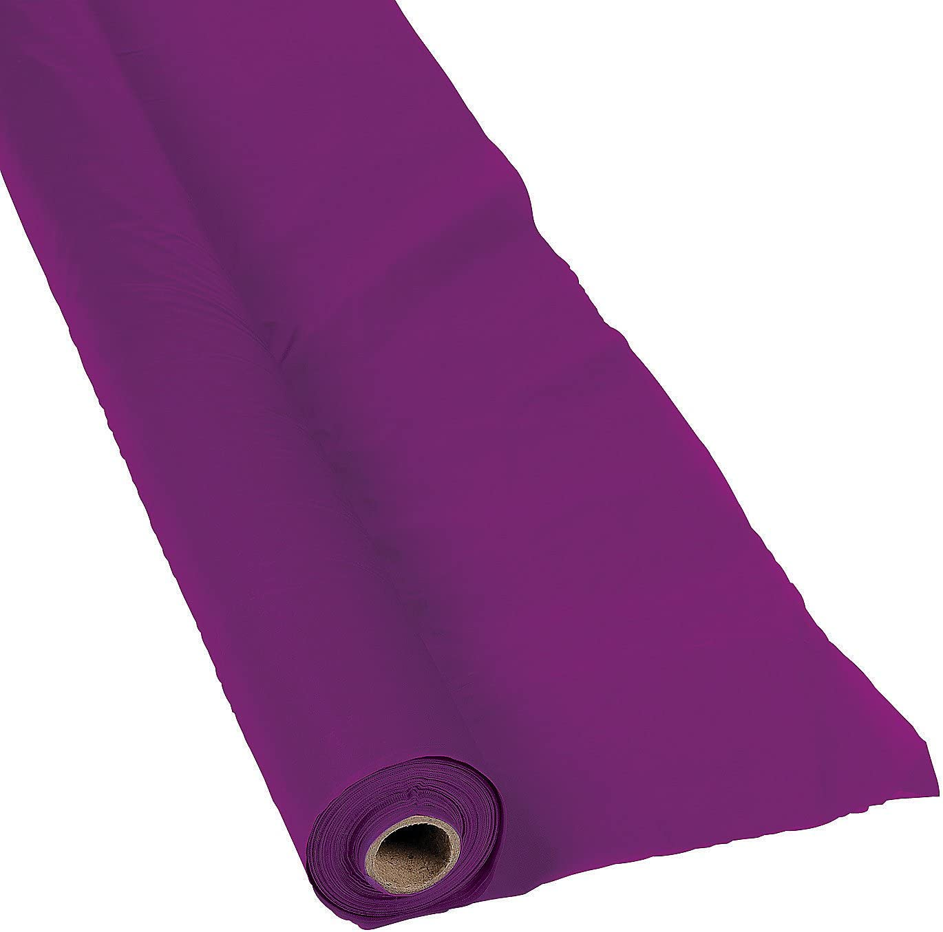 Plum Purple Disposable Tablecloth Roll 100 feet Long Party Supplies