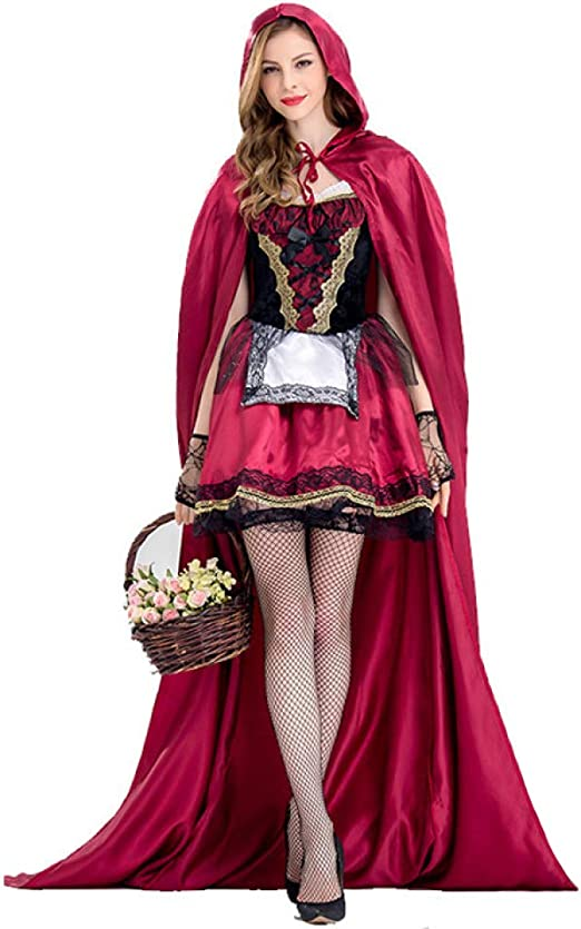 CVCCV Disfraz de Halloween, Caperucita Roja, Disfraz de Reina ...