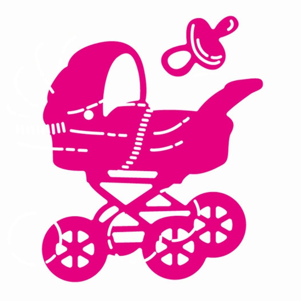 Transer® Metal Cutting Dies- DIY Scrapbooking Embossing Album Paper Card Craft Die Handcrafts Tool (Baby carriage (E:44*53mm))