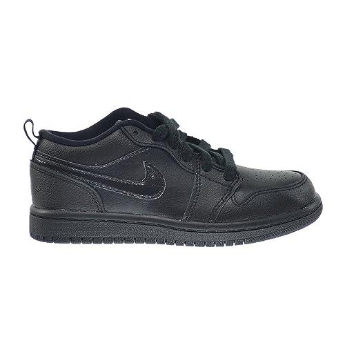 Jordan 1 Low BP Preschool Kids Shoes Black-Black 644475-017 (3 M 15e7af806
