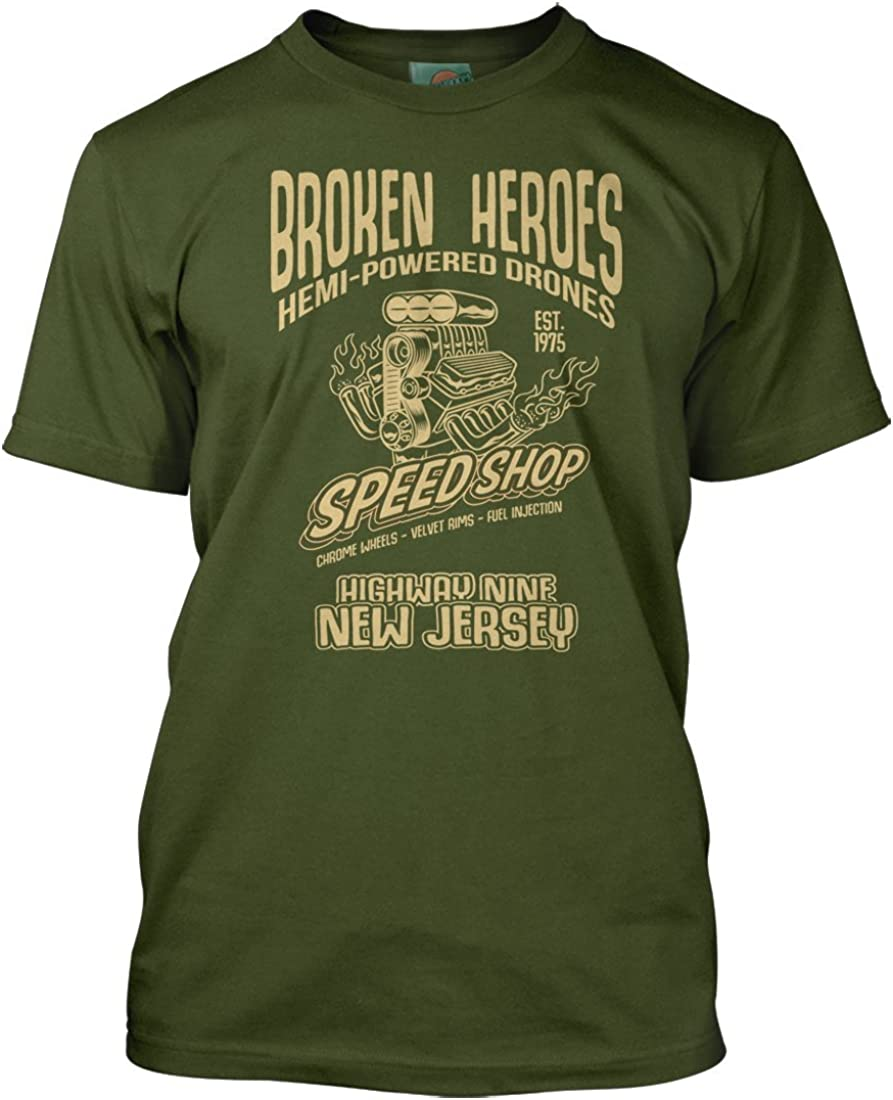 Bruce Springsteen Inspired Born to Run Broken Heroes Herren T-Shirt
