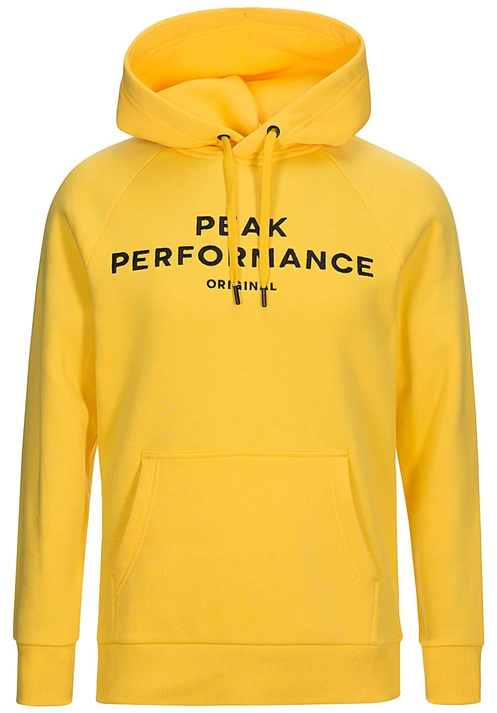Peak Performance Logo Hood Bright Gelb