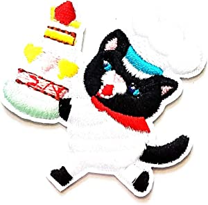 Nipitshop Patches Little Cats Cook Make Food Kids Cartoon Patch Applique for Clothes Great as Happy Birthday Gift