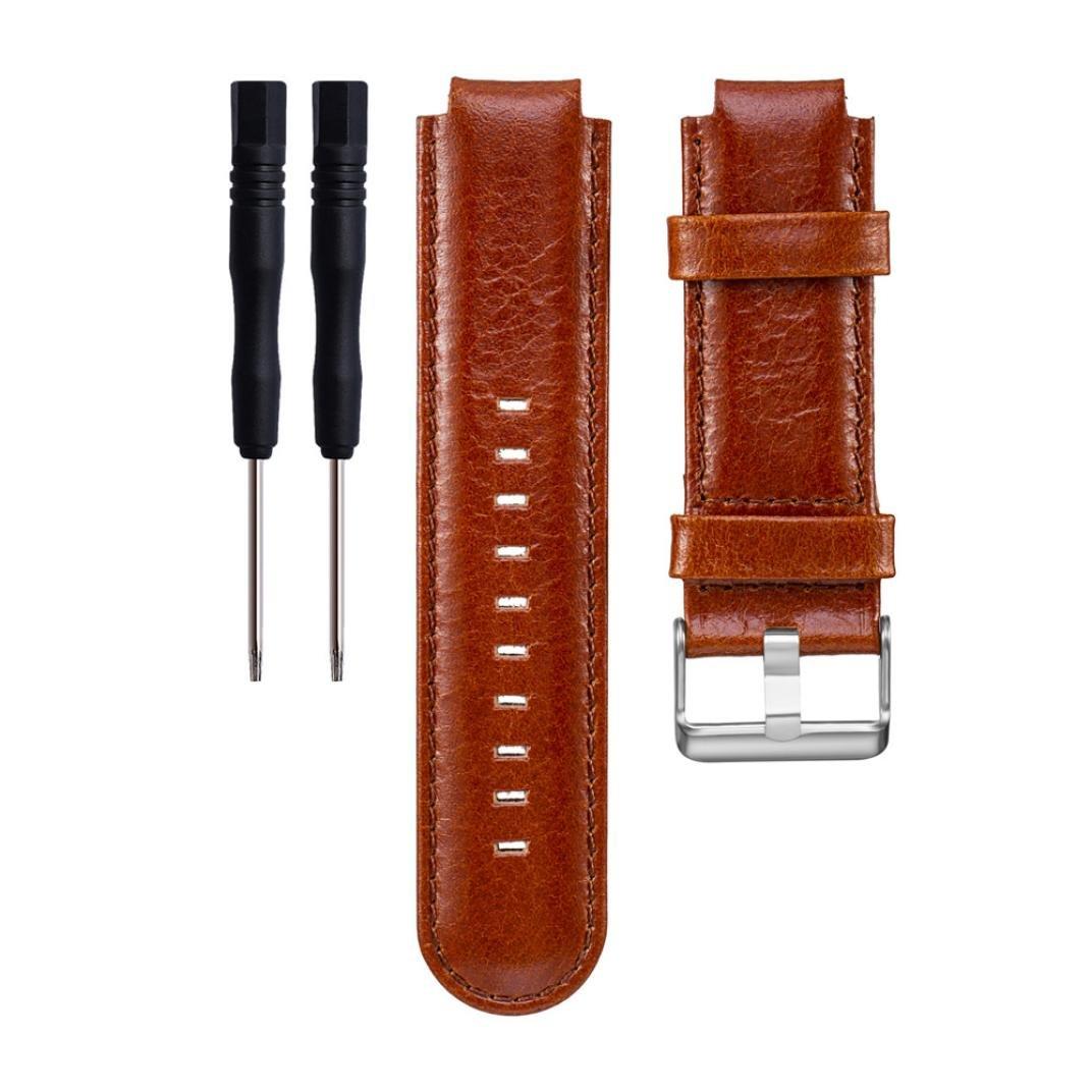 レザーストラップ、RTYOu ( TM )耐久性交換ソフトレザー腕時計バンドストラップ+ツールfor Garmin Approach s2 s4  ブラウン B077XCSRYJ