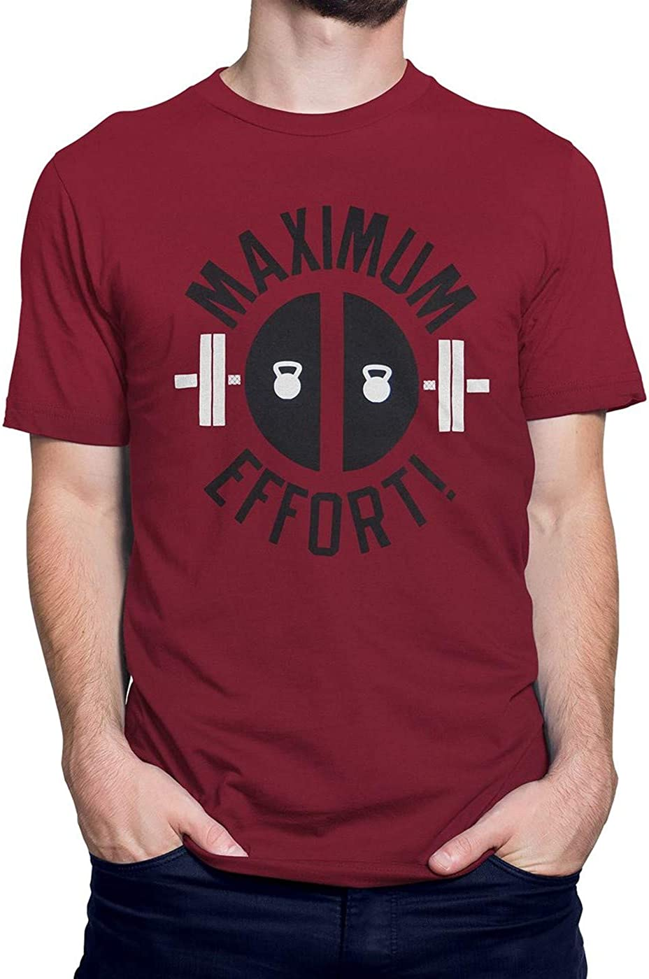 Deadpool Maximum Effort inspired T-Shirt Movie T-Shirt Gym T Shirt