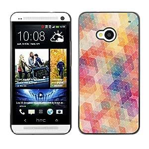 TECHCASE**Cubierta de la caja de protección la piel dura para el ** HTC One M7 ** Polygon Pattern Abstract Pastel Colors