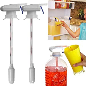 Drink Dispenser, Electric Automatic Tap Dispenser For Water Milk Juice Beer Spill Proof, Beverage Dispenser For Party, Home, Kitchen, Outdoor,Wedding,Decoration (2 Pack)