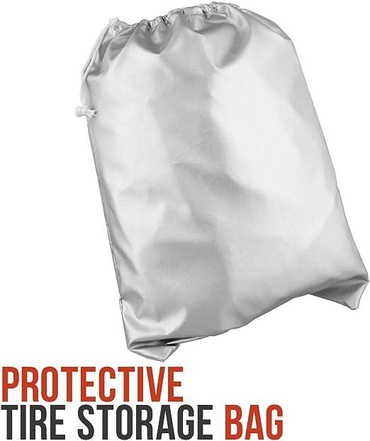 SoGuDio Tire Storage Cover Dustproof Protective Cover Seasonal tire Storage Bag Waterproof tire Storage Bag Suit for Jeep,Trailer,RV,SUV,Truck L 3348IN Khaki+Army Green