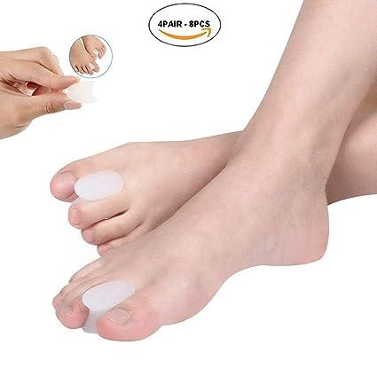 pedimend silicona Gel Corrector de juanetes (4pairs - 8) - Big Toe Separadores, disipador de cabello, proteger juanete ...
