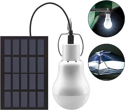 Solar Glühbirne Solarlampe 12 LEDs Solarleuchte Außenbeleuchtung Camping Outdoor