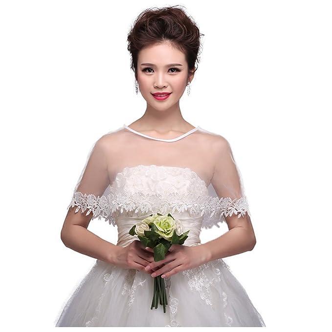 Amazon.com: Chaqueta de encaje bordada para novia, para boda ...