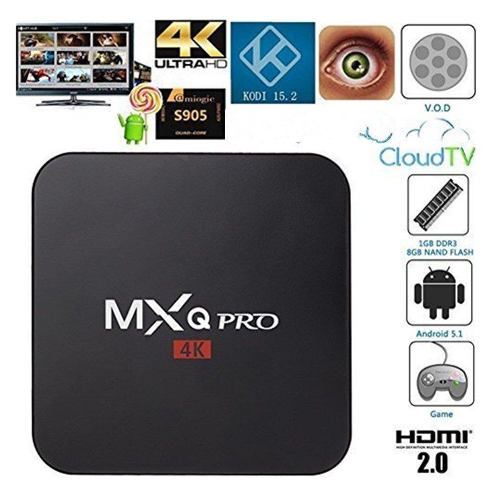 BQEEL MXQ Pro Android TV Box Amlogic S905 Chipset Kodi 15 2 Full Loaded  Android 5 1 Lollipop OS TV B