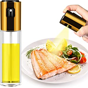 Olive Oil Sprayer for Cooking, Food Grade Spray Transparent Vinegar Bottle Oil Dispenser, Portable Oil Bottle for Kitchen Barbecue, Salad and Outdoor Barbecue