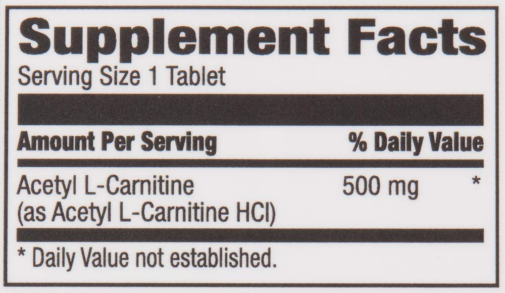 Amazon Brand Revly Acetyl L Carnitine, 500 mg, 100 Tablets, Vegan