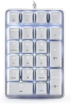 Teclado numérico mecánico 21 teclas con CHERRY Blue Switches ...
