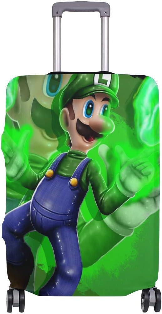 Super Smash Bros Mario Luigi Funda de Equipaje de Viaje Protector de Maleta Fundas de Equipaje Lavables