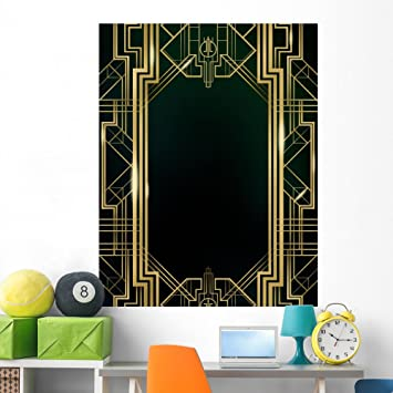 Great Gatsby Art Deco Wall Mural By Wallmonkeys Peel And Stick Graphic (60  In H Part 65