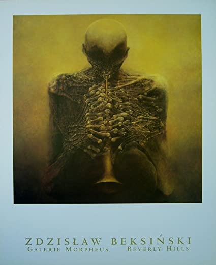 .com: horn player fine art poster by zdzislaw beksinski ...